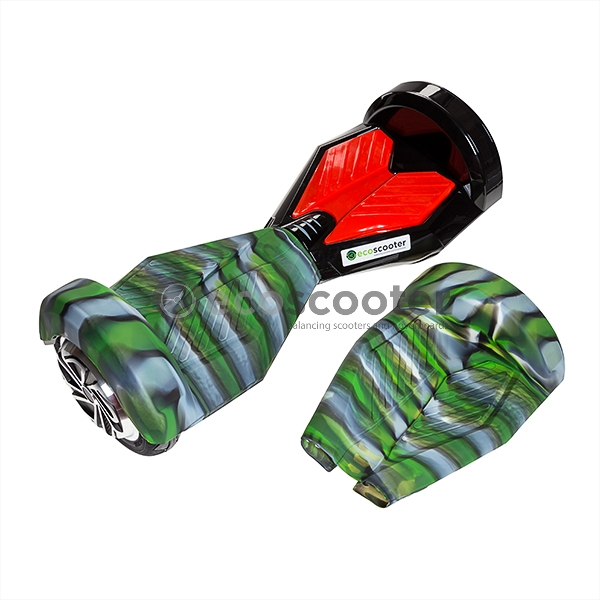 Silicone-cover-case-for-scooter-8`-Hoverboard-2-wheels-shell-green